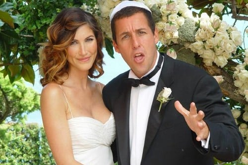 Adam Sandler with his wife Jackie Titone