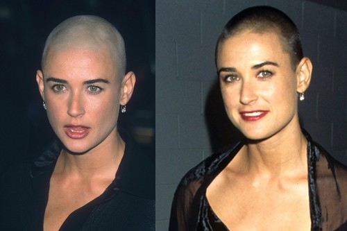 Demi Moore Shaved head